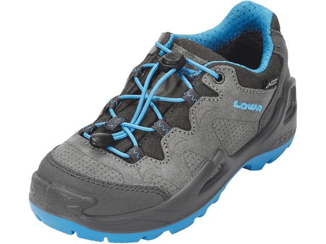 Lowa Diego GTX Chaussures à tige basse Enfant, grey/turquoise